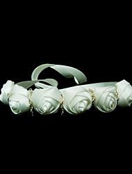 Elegante Satin mit Blumen Damen Stirnbänder