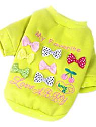 Style de bowknot belle sieste T-shirt pour chiens (couleurs assorties, XS-XL)