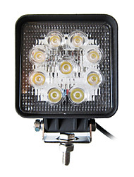 27W Square 9 Lampe de travail LED