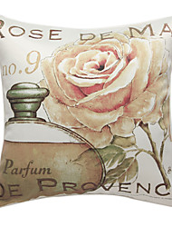 Country Roses Print Decorative Pillow Cover