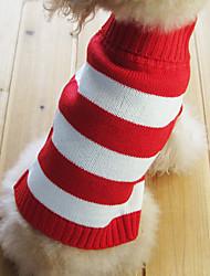 Perros / Gatos Suéteres Rojo Invierno Rayas
