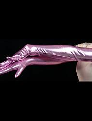 Gloves Ninja Zentai Cosplay Costumes Purple Solid Gloves Spandex Unisex Halloween / Christmas
