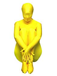 Amarelo Unissex Spandex Lycra Zentai Suit