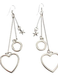 Peach Heart Shape Torus Platinum Earrings