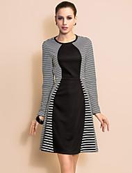 ts Einfachheit Streifen schwingen Jerseykleid