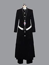 Inspiré par Blue Exorcist Shirou Fujimoto Anime Costumes de cosplay Costumes Cosplay Mosaïque Noir Manche LonguesManteau / Pantalons /