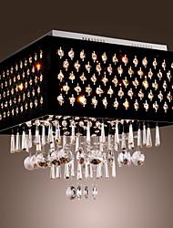 BILLINGHAM - Lustre Cristal Fini Chromé - 9 slots à ampoule