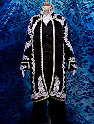 Inspired by Vocaloid Kaito Video Game Cosplay Costumes Cosplay Suits Jacquard Long Sleeve Cravat Coat Vest Shirt Pants Gloves