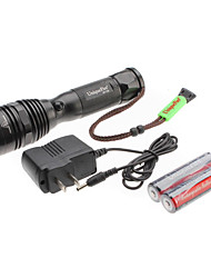 UniqueFire T03 5-Mode do Cree T6 XM-L LED Set lanterna recarregável (10w, 1000LM, 1x18650)