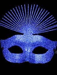 Luxueux Glitters Bleu Vacances PVC demi-masque