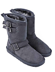 Women's Warm Mid-Calf Boots with Buckles