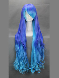 Cosplay Wigs Vocaloid Megurine Luka Blue / Purple Long Anime/ Video Games Cosplay Wigs 90 CM Heat Resistant Fiber Female