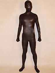 Zentai Suits Ninja Zentai Cosplay Costumes Black Solid Leotard/Onesie / Zentai Shiny Metallic Unisex Halloween / Christmas