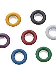 8mm ronde coloré oeillets en métal Rivet (contenant 100 Photos)