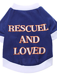 Rescue and Love Pattern T-Shirt for Dogs (S-XXL)