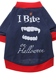 I Bite Pattern T-Shirt for Dogs (Dark Blue,S-XXL)