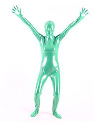 Shiny Zentai Suits Ninja Zentai Cosplay Costumes Green Solid Leotard/Onesie / Zentai PVC Unisex Halloween / Christmas