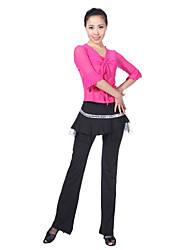 Dancewear Viscose with Sequins Latin Dance Outfits For Ladies More Colors