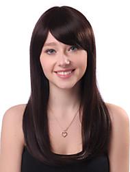 Capless long Brown Droite 100% Human Hair Wigs