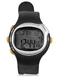 Black Outdoor Watch With Heart Rate Monitor,Alarm Clock and Stopwatch Function