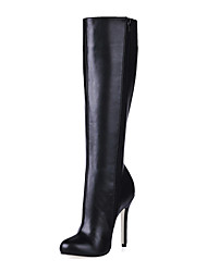 Leatherette Stiletto Heel Knee High Boots Party / Evening Shoes