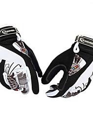 Mesh+Cloth+Fiber Windproof+Warm-Keeping Full-Finger Cycling Gloves 42531