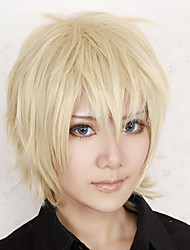 Cosplay Wigs Beyond the Boundary Konoe Golden Short Anime/ Video Games Cosplay Wigs 30 CM Heat Resistant Fiber Male