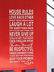 """Наклейки на стену моющиеся из слов и выражений, тематика """"Правила этого дома"""""""