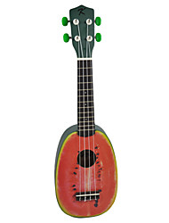 (Watermelon) Basswood Pineapple Soprano Small Guitar with Gig Bag