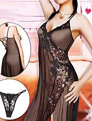 Damen Floral Hem Lace Nachtwäsche (Fit Größe: M-XL)