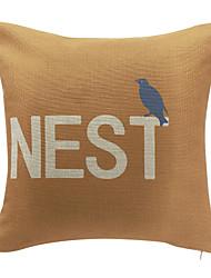 coton nid d'oreiller couvercle décoratif