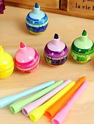 niedlichen lollipop shaped water color pen (3-Pack, zufällige Farbe)