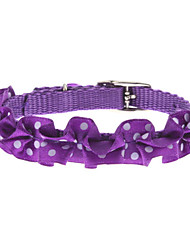 Tiny Spot Fold Flower Collar for Dogs (Assorted Color)