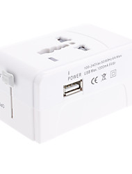 Universal Travel Power Adapter met USB-poort
