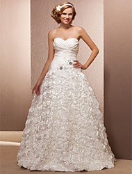 A-line/Princess Plus Sizes Wedding Dress - Ivory Floor-length Sweetheart Taffeta/Lace
