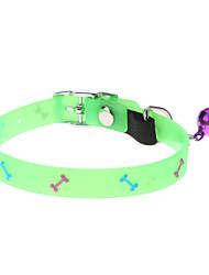 Gatos / Perros Collar Fluorescente / Hueso Verde Textil