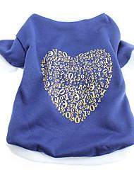T-shirt - Chiens - Toutes Saisons Bleu - en Coton - XS / M / S / L