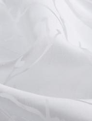 um painel branco floral poliéster folha botânico cortina cortina