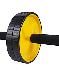 Eixo de aço preto e rodas de PVC Duplo para Fitness