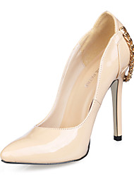 Patent Leather Stiletto Heel Pumps Party / Evening Shoes With Chain (More Colors)