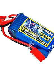 400mAh 7.4V/2S bateria Lipo 35C para o modelo de RC