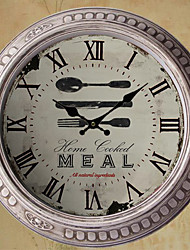 "13.5""H Dinner Time Metal Wall Clock"