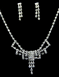 Shining Alloy With Rhinestone Women's Jewelry Set Including Necklace,Earrings
