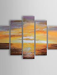 Met de hand geschilderde olieverf Abstract Landschap Set van 5 1302-AB0312