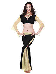 Dancewear Crystal Cotton Belly Dance Outfits For Ladies More Colors