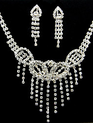 Luxurious Alloy With Rhinestone Women's Jewelry Set Including Necklace,Earrings