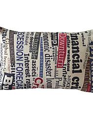 Jornal algodão / linho fronha decorativa