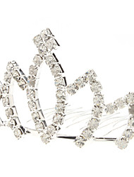 Средний размер Лотос стиле Diamond Silver Crown шпилька для домашних животных