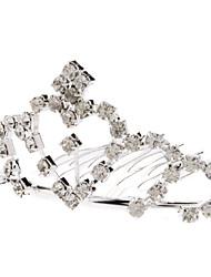 Средний размер сердца Стиль Diamond Silver Crown шпилька для домашних животных