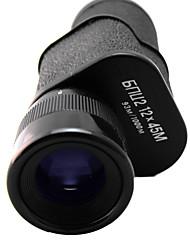 12x 45 mm Monocolo Custodia / Visione notturna Stabilizzato / Impermeabile Nero